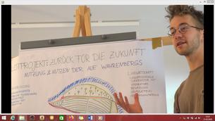 Vorstellung eines Pilotprojektes von einem Teilnehmer der Sommeruni (c Nils Aguilar, Malte Cegiolka)