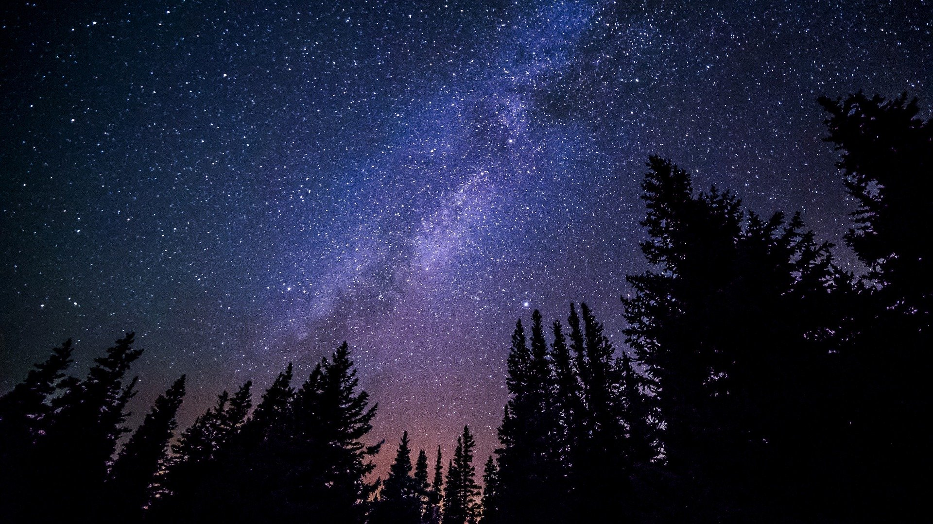 Winterlicher Sternenhimmel
